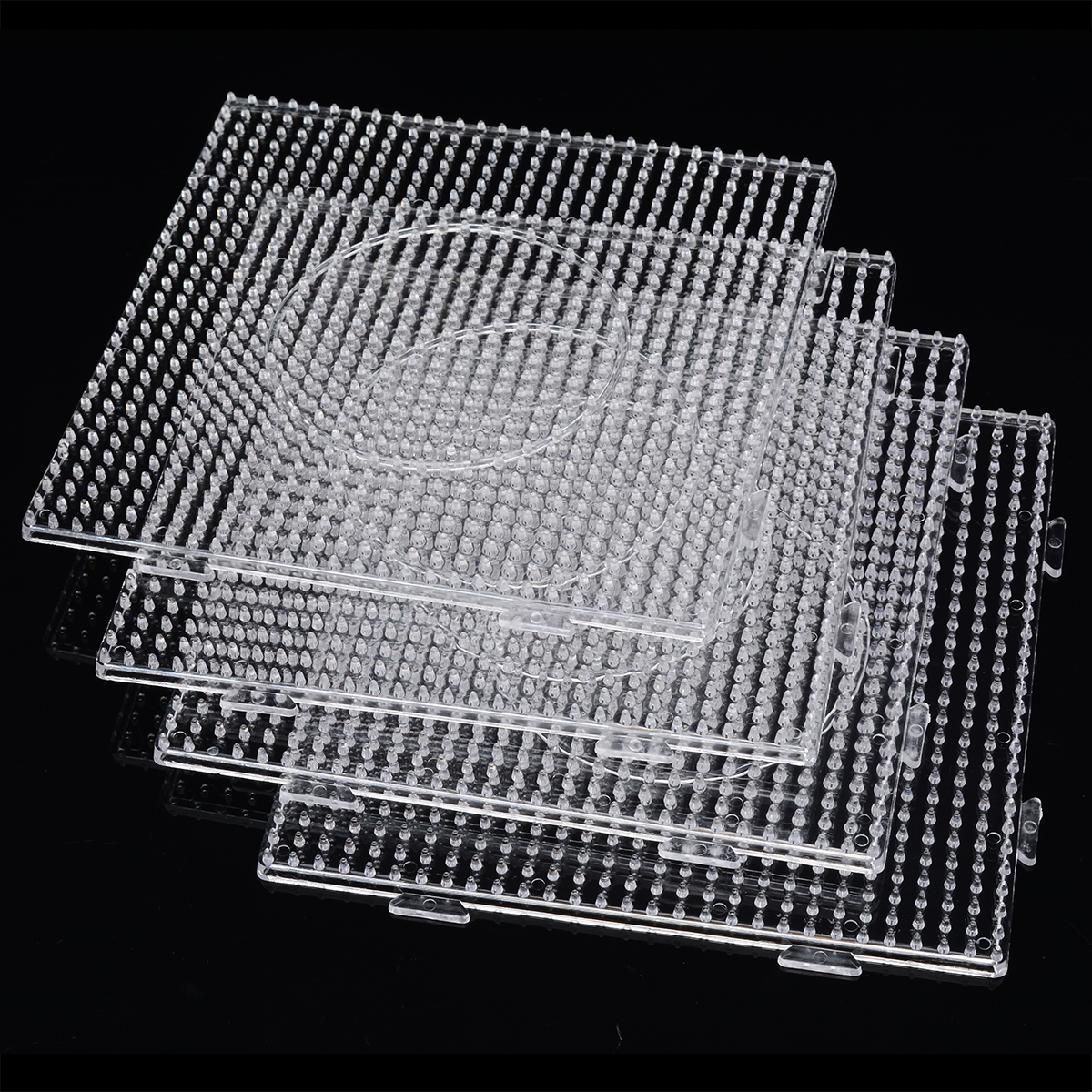4pcs New Fuse Bead PE Clear Large Square Pegboards Patterns for Hama Fuse Perler Bead DIY Puzzles Kids Craft4pcs New Fuse Bead PE Clear Large Square Pegboards Patterns for Hama Fuse Perler Bead DIY Puzzles Kids Craft