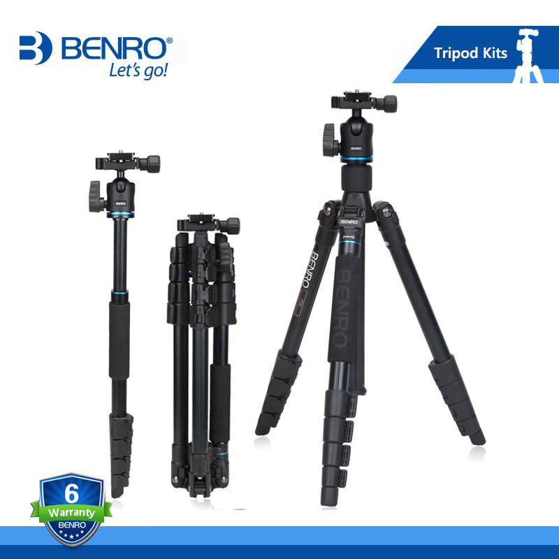 BENRO IT25 Tripod Portable Camera Tripods Reflexed Removerble Traveling Monopod Carrying Bag Max Loading 6kg DHL Free Shipping