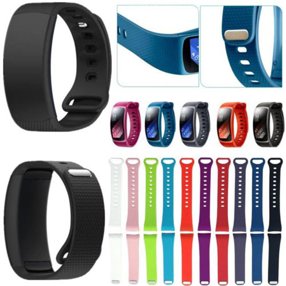 L/S Size Superior Quality 2017 Luxury sport Silicone Watch Replacement Band Strap For Samsung Gear Fit 2 SM-R360 Wristband jansin 22mm watchband for garmin fenix 5 easy fit silicone replacement band sports silicone wristband for forerunner 935 gps