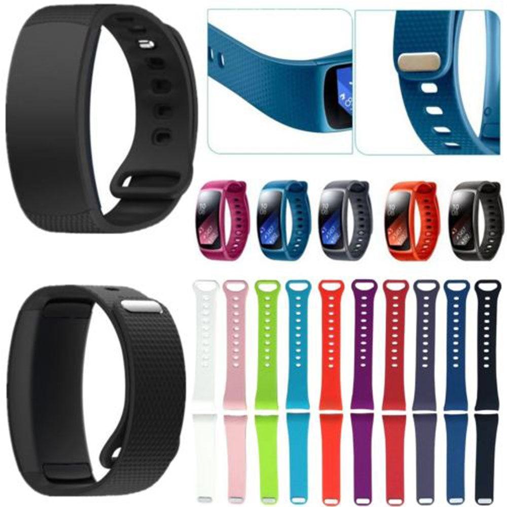 Correa de silicona de tamaño grande / pequeño para Samsung Gear Fit 2 SM-R360 Band Soft Sport Wristband para Samsung Gear Fit 2 Pro Wristband