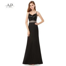 880c687817f Women s Party Dresses EP07022 Women s Elegant V-neck Sequined sleeveless Evening  Long Sequined A-line Cheap Dresses Ever Pretty