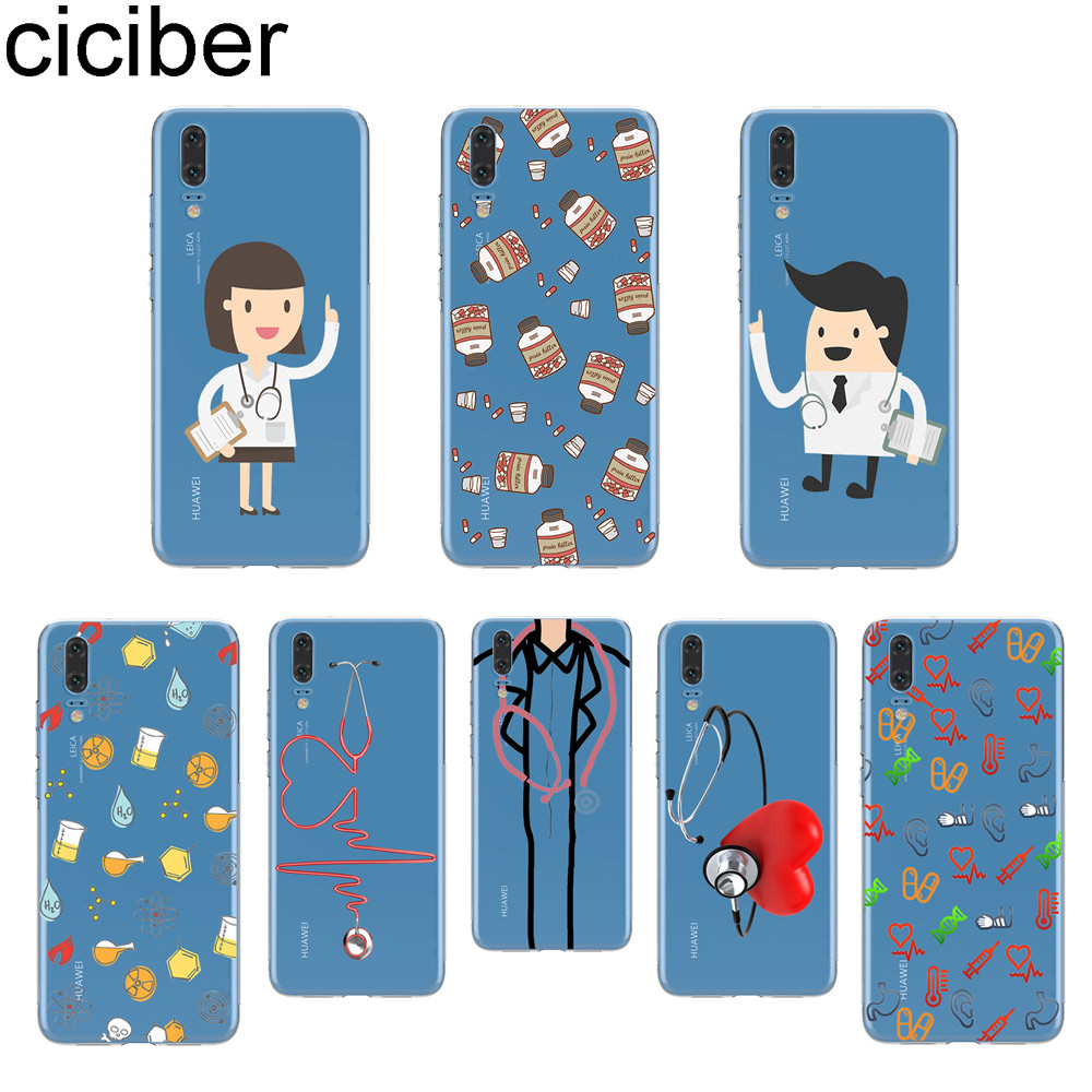 Persevering Ciciber Cute Cartoon Doctor Love Phone Case For Huawei P20 Lite P30 P10 P9 P8 Lite Pro Plus 2017 P Smart 2019 Soft Tpu Cover Fitted Cases Cellphones & Telecommunications