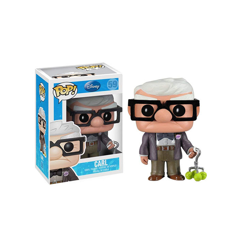 FUNKO POP Disney Anime Pixar Movie UP & CARL PVC Action Figures Collection Model Toys For Children Birthday Christmas Gift