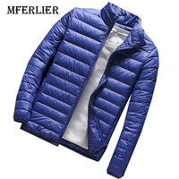 MFERLIER 2018 Winter Autumn 5XL 6XL 7XL Men Jackets 8XL 9XL Large Size Black Blue Navy Blue Casual 5 Colors Long Sleeve Jackets