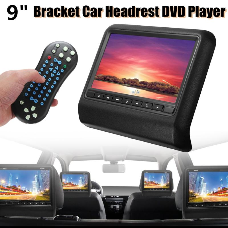 Autoleader 9 inch Digital Screen 800P Car Support DVD USB SD LCD Headrest Monitor Remote Control Video Player Support GAME 9 inch universal car headrest video player beige zipper cover digital screen dual dvd player with wireless remote control x 2