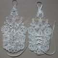 Charming White Wedding Bridal Gloves Bridal Accessory Beaded Lace Sexy fingerless gloves WR11
