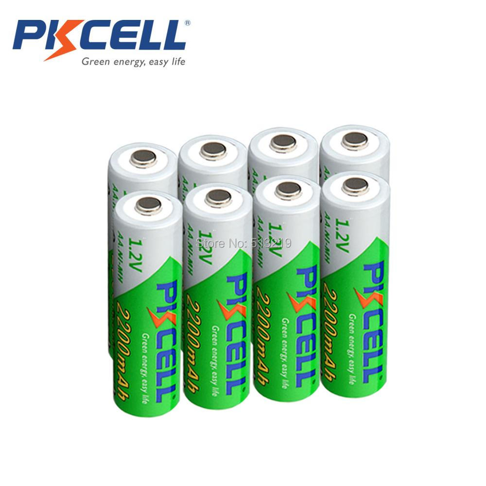 10PCS PKCELL <font><b>1.2V</b></font> NIMH <font><b>AA</b></font> 2200MAH <font><b>battery</b></font> rechargeable <font><b>batteries</b></font> low self discharging <font><b>battery</b></font> for Razors electronic toys image