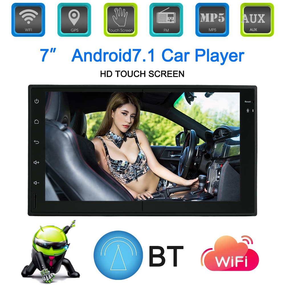 Android 7.1 System GPS Navigation 7 Inch Touchscreen Car Stereo BT Car Multimedia Player for bmw e46 e90 ford focus 2 volkswagen universal android 7 1 system gps navigation radio system 7 inch bt in dash navigation car multimedia player