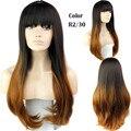 Nova barato Disponível two-tone grande onda peruca com estrondo completo perucas sintéticas onduladas para as mulheres negras ombre celebridade peruca encaracolado