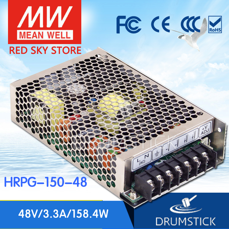best-selling MEAN WELL HRPG-150-48 48V 3.3A meanwell HRPG-150 48V 158.4W Single Output with PFC Function  Power Supply advantages mean well hrpg 200 24 24v 8 4a meanwell hrpg 200 24v 201 6w single output with pfc function power supply [real1]