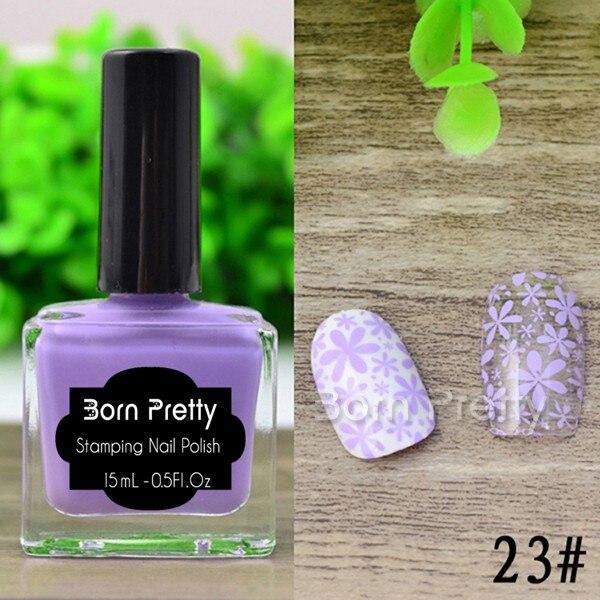 HOT 15ml New Color Born Pretty Nail Art Stamping Polish Light Purple ...
