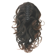 Soowee Curly Synthetic Hair Clip In Hair Extension Brown My Little Pony Tail Claw Ponytail False Hair Horse Hair Overhead Paard