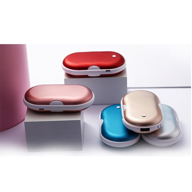 2 In 1 Cute USB Rechargeable Hand Warmer And 5200ma Power Bank Mini Portable Travel Handy Long-Life Pocket Hand Warmer Hand Rest