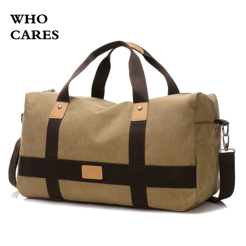 Who cares Large Capacity Travel Bag Men Hand Luggage Travel Duffle Bags Canvas Weekend Bags Multifunctional Travel Bags