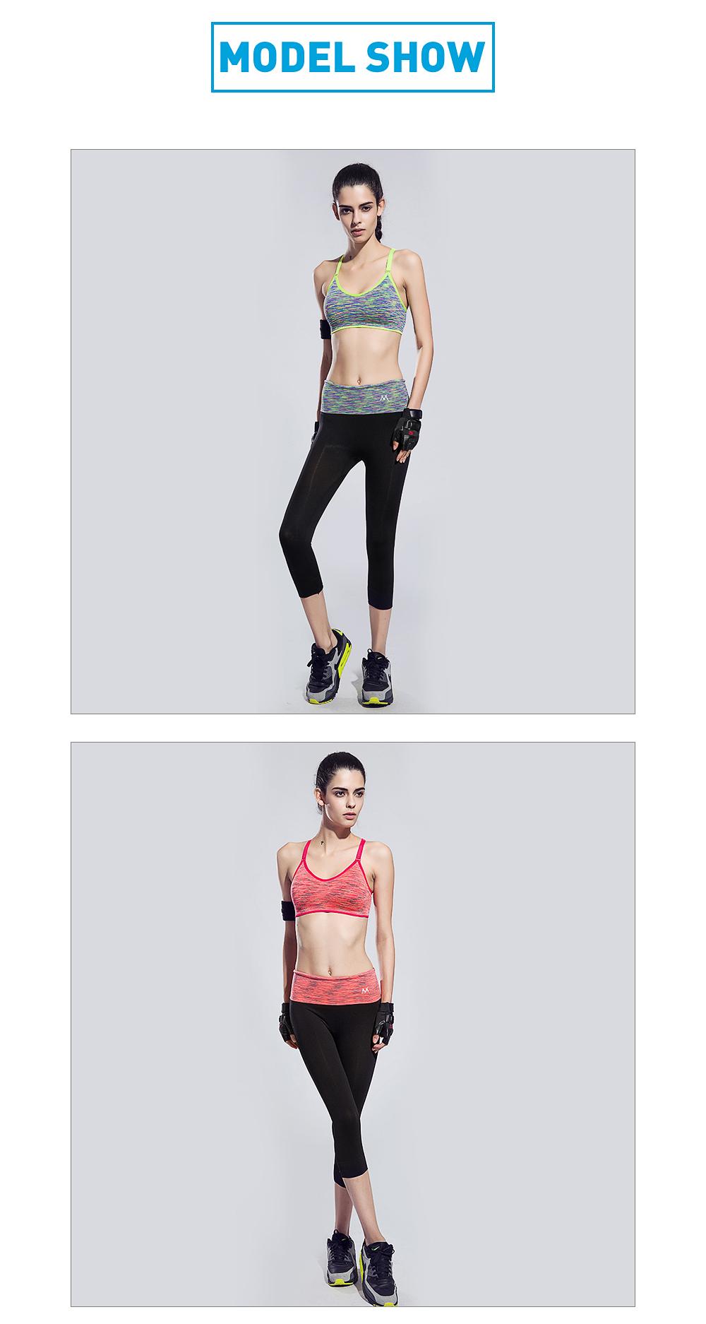 Ensemble de sport pour femme gris vert et noir / orange et noir, leggings, brassière, soutien-gorge et T-shirt, yoga fitness pilâtes gym, modèles portés par un mannequin