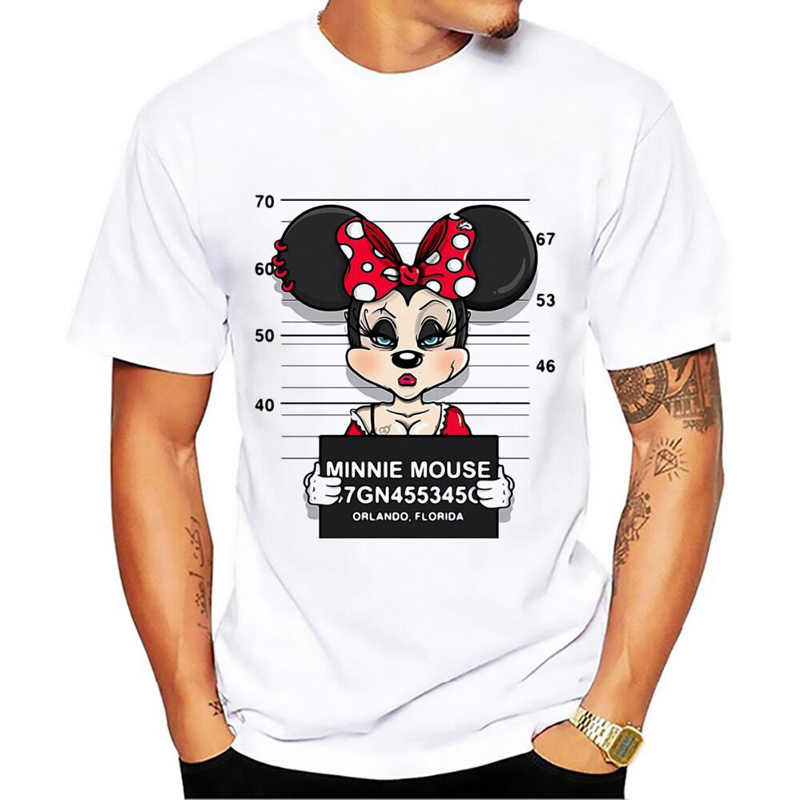 New mickey print tees mouse t-shirt men tops hip hop casual funny dog cartoon tshirt homme comfort cotton t shirt Size S-5XL
