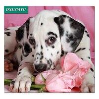 Hot animais diy Pintura Diamante 3d do Ponto da Cruz Bordado Cheio de Diamantes Padrão Mosaico Resina mancha Preta pet cão decoração de Casa