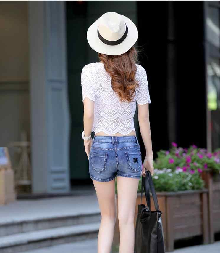 Lato Denim spódnica spodenki damskie Plus Size w stylu Vintage krótkie dżinsy kobiet spodenki dżinsowe spódnica Feminino Sexy Jeans spódnica S/3Xl j2831