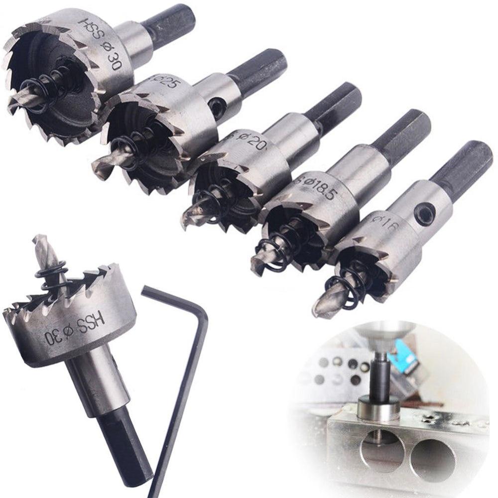 10 unids/set punta carburo Brocas HSS poco agujero VI conjunto de Metal de acero inoxidable de aleación de 16/18 5/20/25/30mm