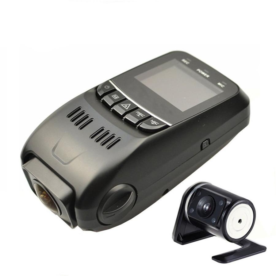Car Front+ Rear 1080P Hidden Dual Dash Cam Lens DVR Recorder with Vehicle G-Sensor Night Vision Motion Detection 170 Degree