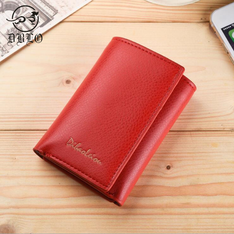 DBLO Luxury Brand Women Wallets Fold Design PU Leather Wallet For Women Hasp Female Mini Wallet Card Holder Lady Style Purse casual weaving design card holder handbag hasp wallet for women