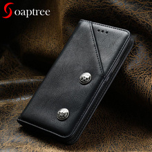 soaptree For Samsung Galaxy J3 2017 Case Leather Wallet Flip Cover Samsung J3 2017 J330 Cases EU Version Vintage Holster 5.0inch