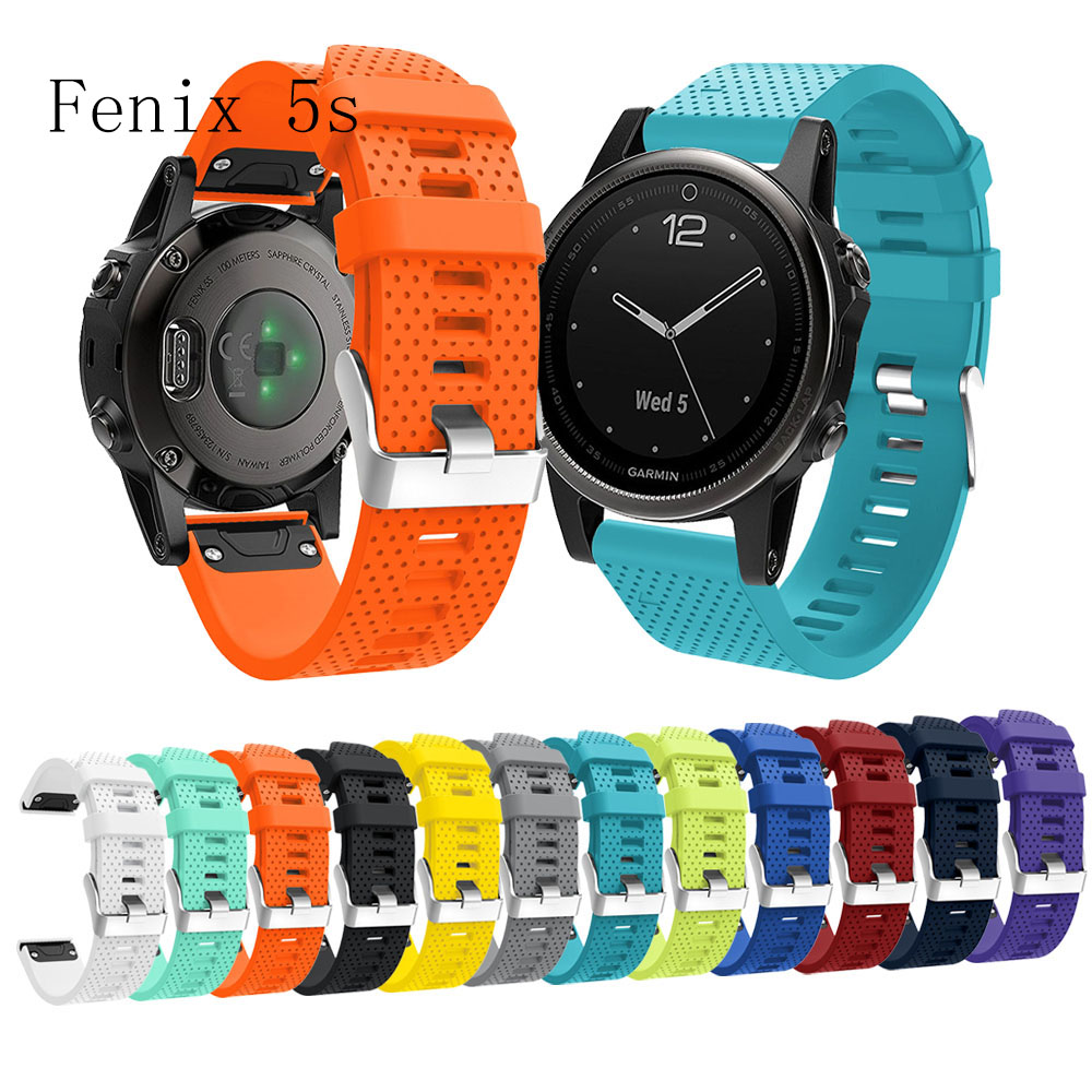 fivstr-Replacement-Soft-Silicone-Quick-Release-Watchband-Strap-For-Garmin-Fenix-5S-GPS-Watch1