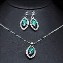 Новое поступление, потрясающий бренд, Свадебные Ювелирные наборы с австрийскими кристаллами в форме капли воды, модное ожерелье и серьги 80224