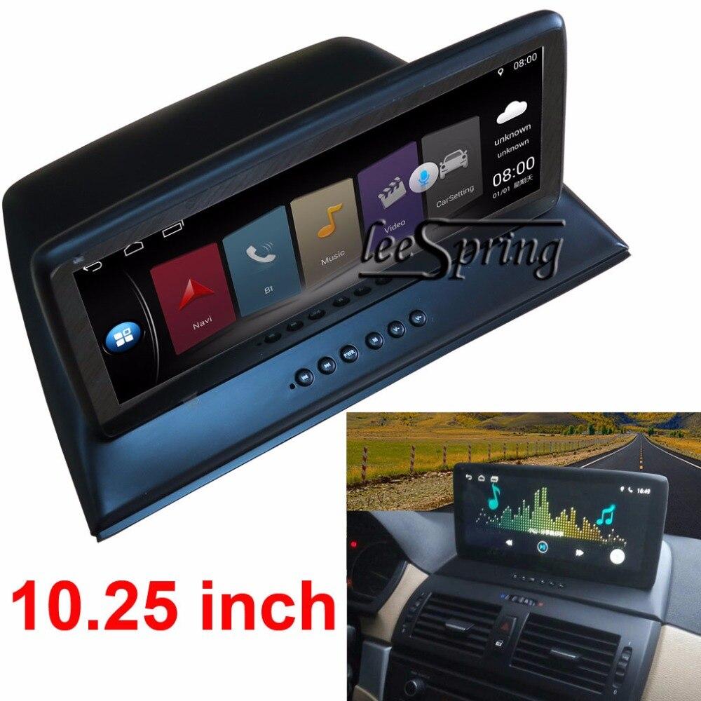 Автомобильные аксессуары 10,25 дюймов автомобиль интеллектуальные Системы автомобиля мультимедийный плеер для BMW X3 E83 с gps навигации MP5 Bluetooth,