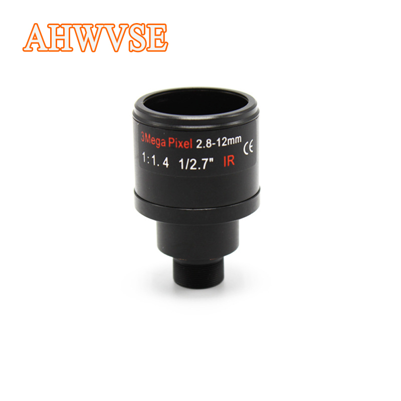 3 Megapixel Fixed Iris M12 HD 2.8-12mm Varifocal cctv IR HD Lens F1.4 manual focus zoom view angle 90~28degree 3 megapixel full hd 1080p camera lens 3 6mm 128 degrees wide angle m12 0 5 mount 1 2 5 f2 0 fixed iris ir lens