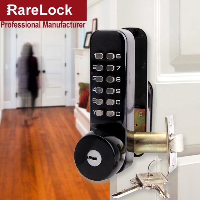 Rarelock MS529 Combination Door Handle Lock Black Doorknob For Women  Bedroom Office Product Home Security Hardware