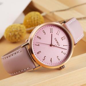 Image 5 - SKMEI แฟชั่นผู้หญิงนาฬิกาสายรัดข้อมือหนังหญิง 3bar กันน้ำควอตซ์นาฬิกาผู้หญิงนาฬิกาข้อมือ relogio feminino 1463