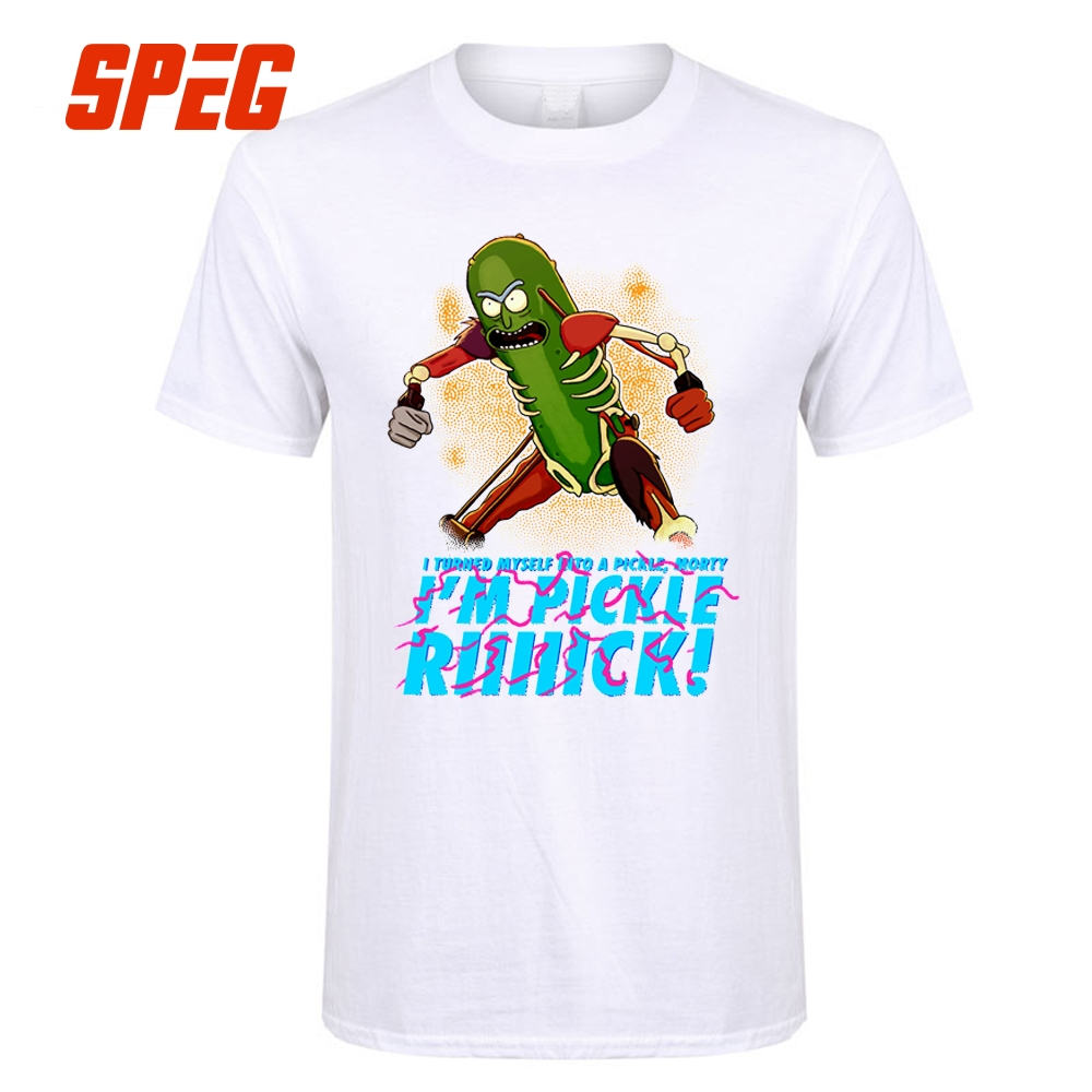 T Shirts Pickle Rick Riiiick Pickle Rick And Morty Teenage Crew Neck