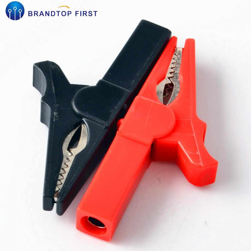 55MM HV Alligator Clip For Banana Plug 4mm Multimeter Pen Cable Probe Red Black//