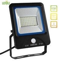 LEDGLE 35W LED Flood Lights Motion Sensor Floodlights Waterproof LED Wall Washer Daylight White IP66 Waterproof Lighting