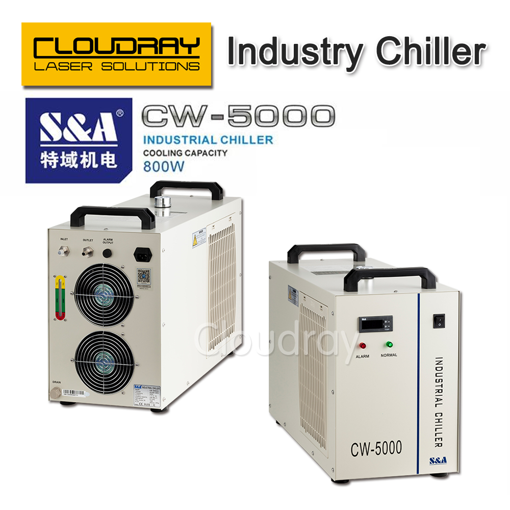 S&A CW5000 Industry Air Water Chiller  for CO2 Laser Engraving Cutting Machine Cooling 80W 100W Laser Tube co2 laser cutting machine industry water cooling machine for brazil cw 5000 bg 220v 60hz 100w laser chiller