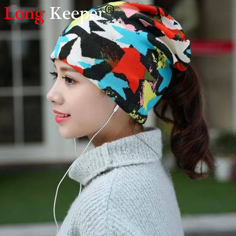 Long Keeper Spring Arrival Styles Star Women's Hats Adjustable Size Beanie Girls Skullies Winter Hats For Women Autumn Thin Hat