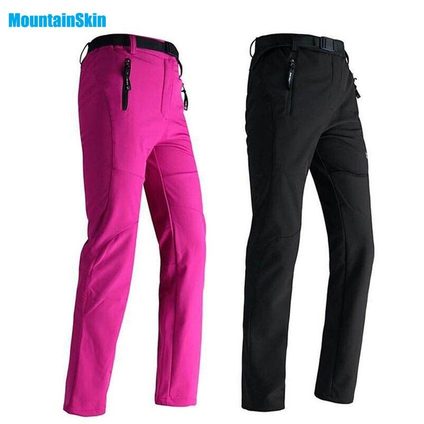 Mountainskin las mujeres invierno pantalones de lana al aire libre deporte impermeable gruesa ropa de marca senderismo Camping esquí Pantalones mujer MB008