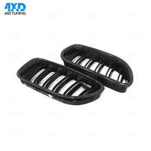 M Look for BMW 5 Series GT F07 Gran Turismo 2010 2011 2012 2013 2014 2015 2016 Carbon Fiber Front Grille Glossy Black Finish