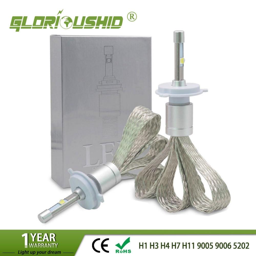 H4 H7 Led H1 H3 H11 H8 H9 9005 HB3 9006 HB4 5202 LED Car Headlight 80W 8000LM XHP-50 Chips Auto Fog Lamp Car Light Bulb 6000k