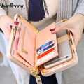 2016 Hot Sale PursNew arrival fashion wallets women long design cute Bowknot large capacity lunch box ladies wallet purse clutch