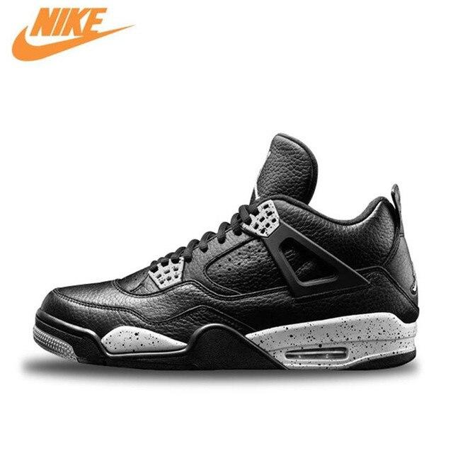 Nike Air Jordan 4 Oreo AJ4 Hommes de Basket-Ball Chaussures, Mâle Étanche En