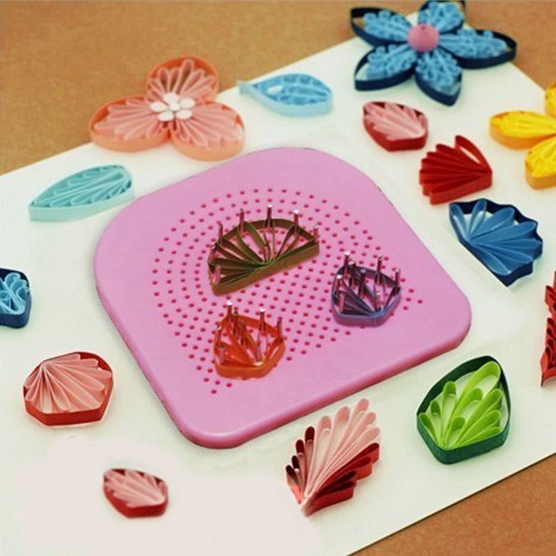 Handmade DIY Paper Quilling 1 Set Paper Folding Yan Grid Guide Paper Craft Tool Needle Plate Winding Device 20 Roots