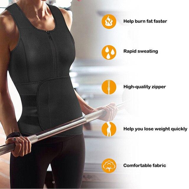 Vest Waist Trainer Corset Shapewear best Selling Sweat Waist Trainer Vests Slim Workout Weight Loss Belt Tummy Sweat Belt 4