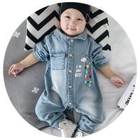 3 Styles Soft Denim Baby Romper Graffiti Infant Clothes Newborn Jumpsuit Babies Boy Girls Costume Cowboy
