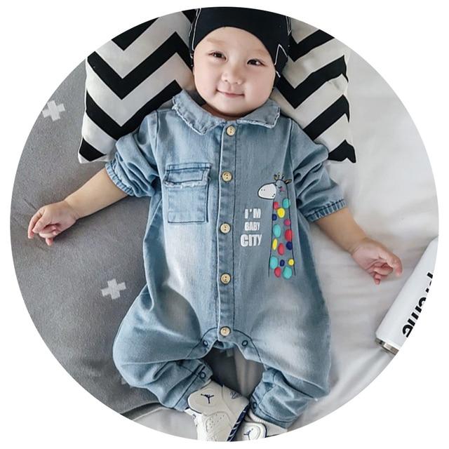 1222e14dc4ce 3 Styles Soft Denim Baby Romper Graffiti Infant Clothes Newborn Jumpsuit  Babies Boy Girls Costume Cowboy Fashion Jeans Children