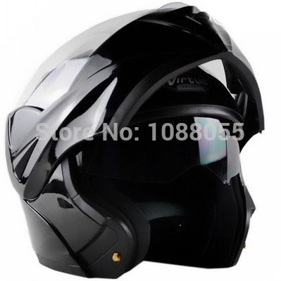 ФОТО 2015 new with inner sun visor flip up motorcycle helmet safety double lens winter racing motos helmet dot approved capacete
