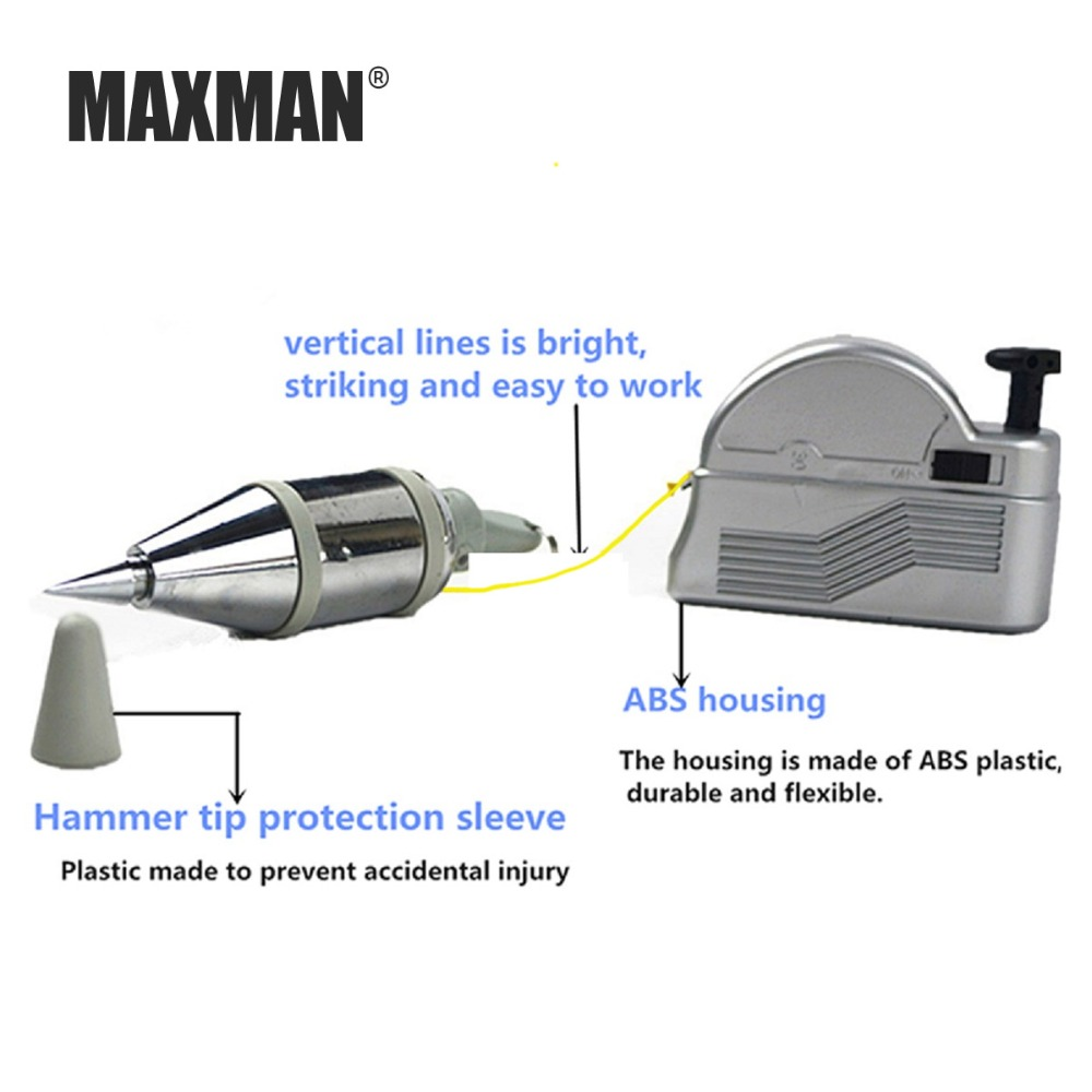 MAXMMAXMAN 3m Automatic Plumb Bob Magnetic Hanging Wire Hammer Verticality Measurement Hand DIY Tools Magnetism Plumb Bob in Hammer from Tools