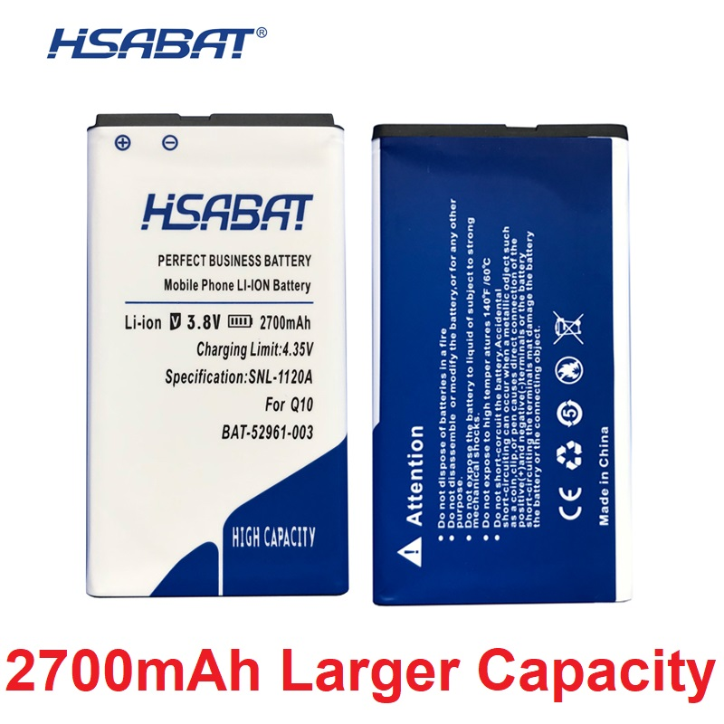 US $8 37 6% OFF Newest 2700mAh Battery for Blackberry Q10 / Q10 LTE / Q10  LTE SQN100 1 ACC 53785 201 BAT 52961 003 NX1-in Mobile Phone Batteries from