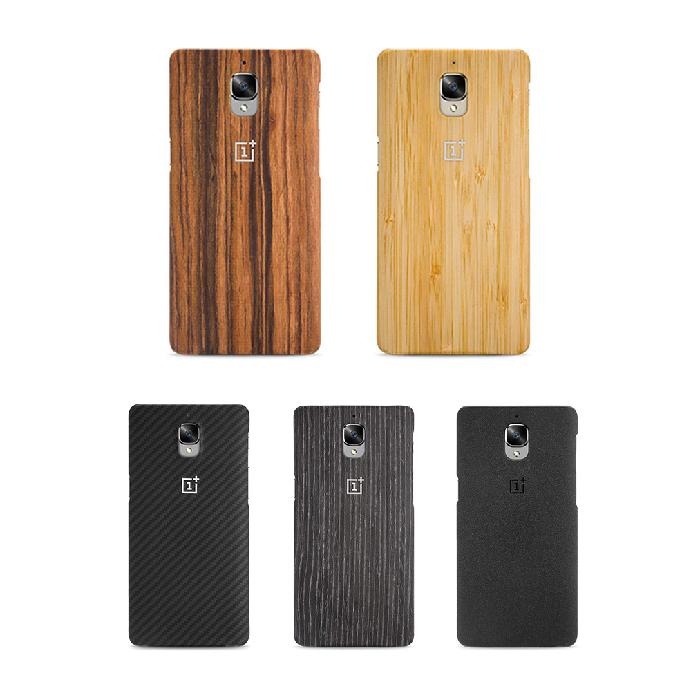 Genuine 100 Official Oneplus 3 Case Oneplus 3T Bamboo Rose Wood Back Cover for One plus